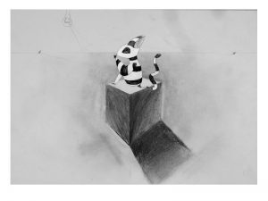 atelier art ancrage dessin arts plastiques peinture croissy sur seine felicie_dessin_cube_2