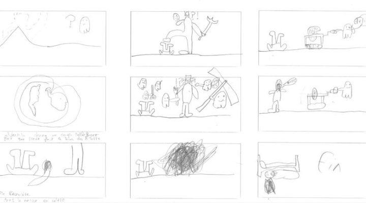 Léon, le storyboard
