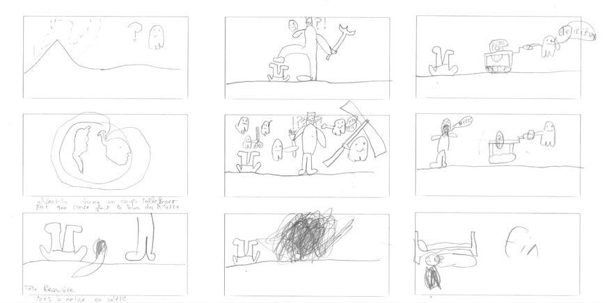 atelier art croissy sur seine_ancrage_atelier_Leon_storyboard