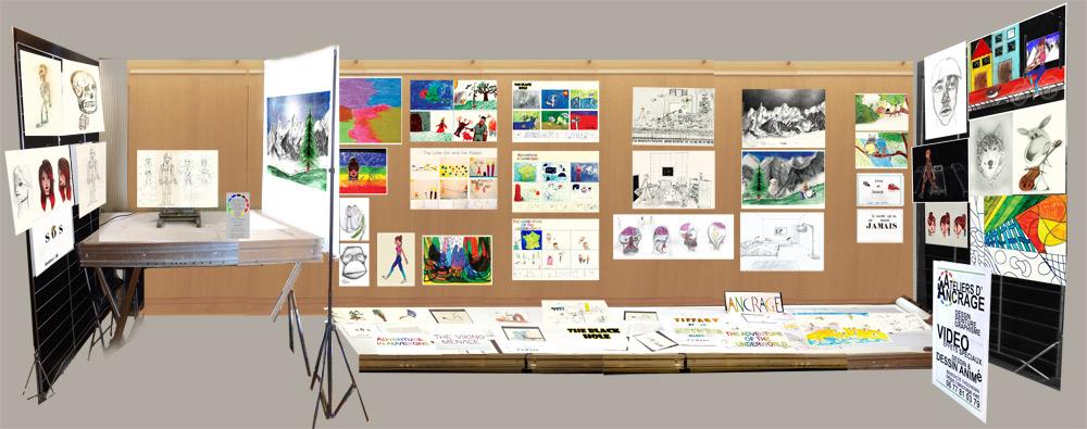 Expo des élèves 23 juin 2019 Auditorium Espace Chanorier Croissy sur Seine  : le stand d'Ancrage